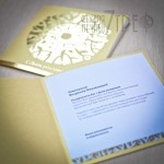 Открытки 140х140мм, дизайнерский картон, фольгирование золото
