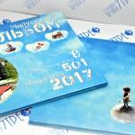Фотоальбом 220х300мм в твёрдой обложке с полимерными вставками для удобного листания страниц